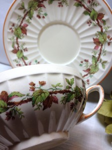 Antique Crown Ducal Early English Cream Soup Set
